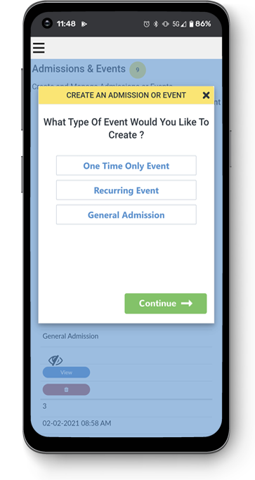 Select an Event Interface
