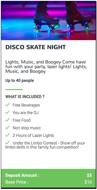 Disco Skate Night Event