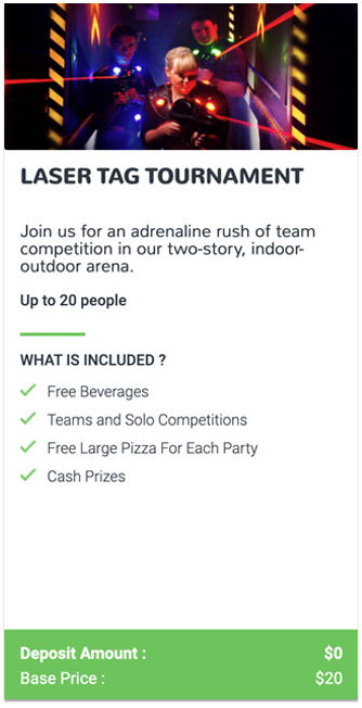 Laser Tag Tournament Event