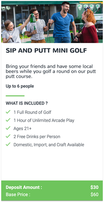 Sip and Putt Event