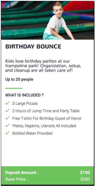 Trampoline Birthday Event