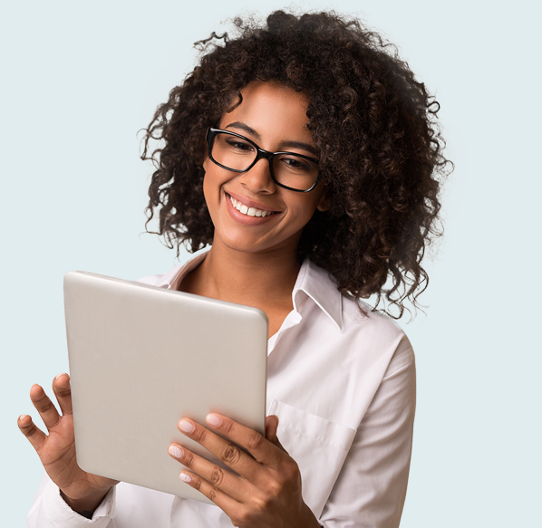 Woman Booking Event on Tablet
